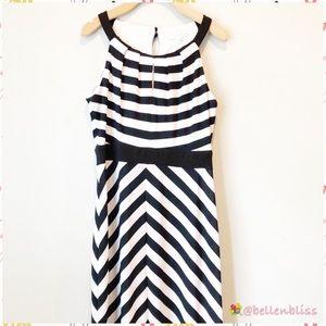 Chevron Striped Maxi Dress by Studio One, Size 12
